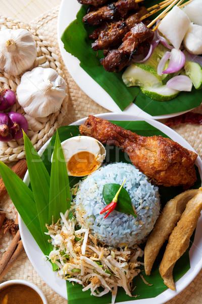 Malay rice dish Stock photo © szefei