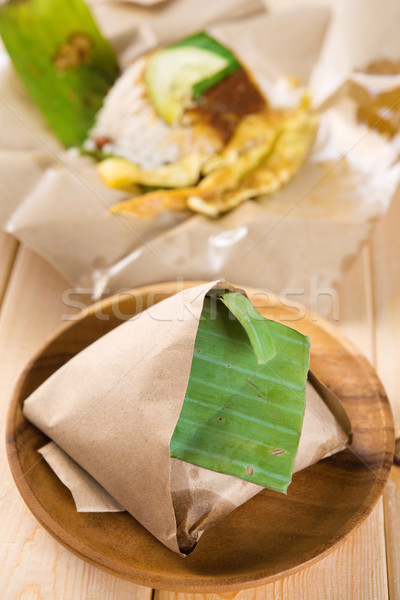 Nasi lemak traditional Malaysian breakfast  Stock photo © szefei