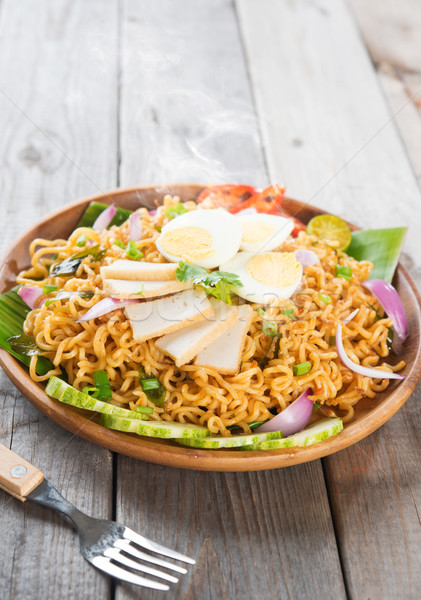 Spicy dried curry instant noodles Stock photo © szefei