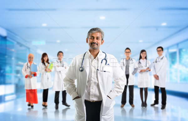 Multiracial diversity Asian medical team Stock photo © szefei