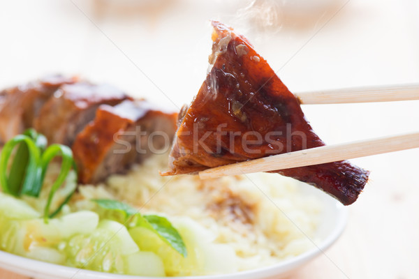 Peking Duck close up Stock photo © szefei