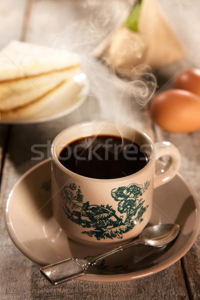 Traditional Malaysian kopitiam coffee and breakfast Stock photo © szefei