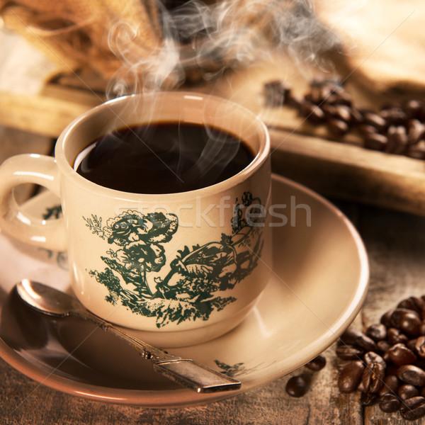 Hagyományos stílus szingapúri kínai kávé klasszikus Stock fotó © szefei