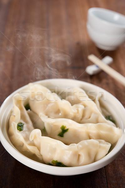 Delicious Asian meal dumplings soup  Stock photo © szefei
