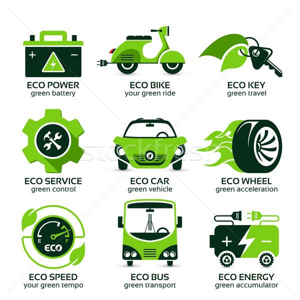 Groene eco stedelijke verkeer drop Stockfoto © szsz