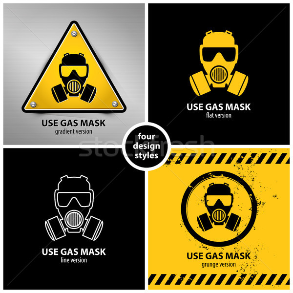 set of gas mask symbols Stock photo © szsz
