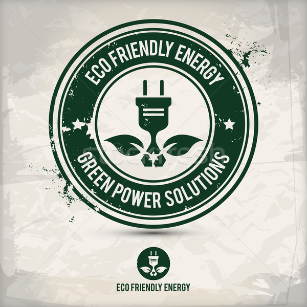 alternative eco friendly energy stamp Stock photo © szsz