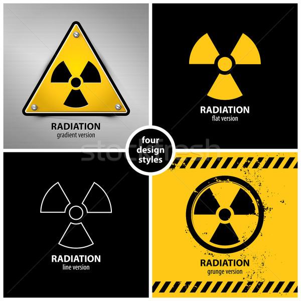 set of radiation warning symbols Stock photo © szsz