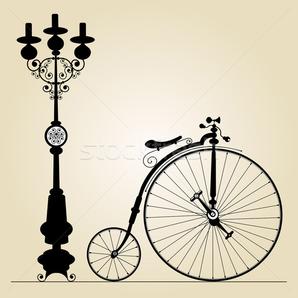 old bicycle Stock photo © szsz