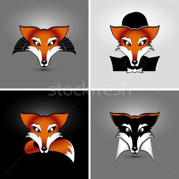 Vier vector tekening eps 10 drop Stockfoto © szsz
