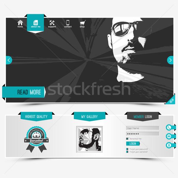 Website sjabloon persoonlijke profiel Stockfoto © szsz