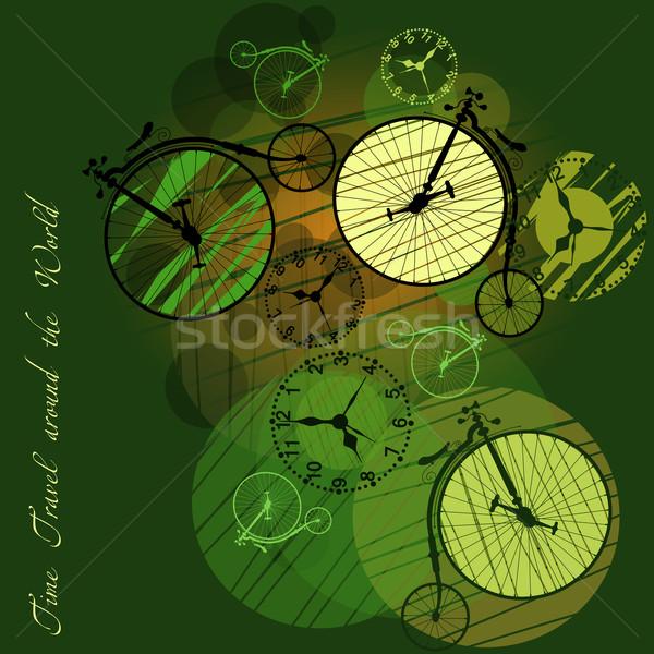 Temps Voyage autour monde sport Photo stock © szsz