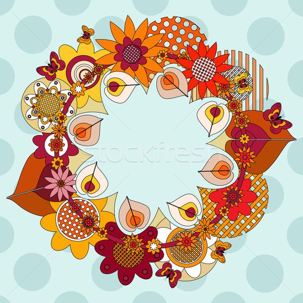 цветок венок бабочки пространстве свадьба бабочка Сток-фото © szsz