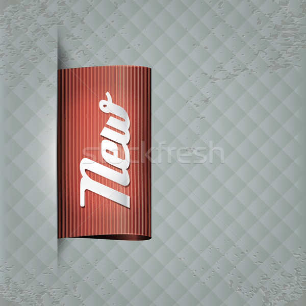 Vintage étiquette rétro textiles titre nouvelle Photo stock © szsz