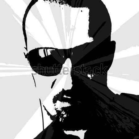 Man portret zonnebril naar zon Stockfoto © szsz
