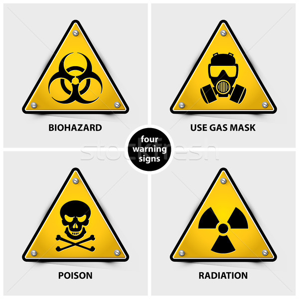 set of warning signs Stock photo © szsz