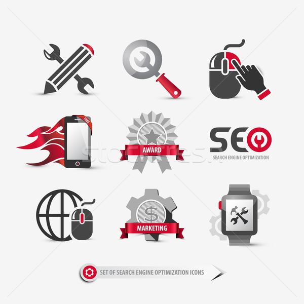 Seo icônes symboles Photo stock © szsz