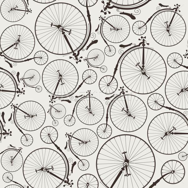 vintage bicycle seamless Stock photo © szsz