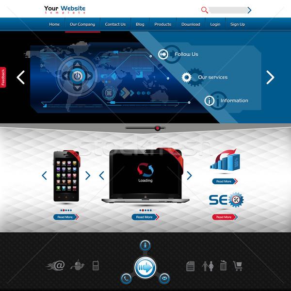Website sjabloon product presentatie hoog Stockfoto © szsz