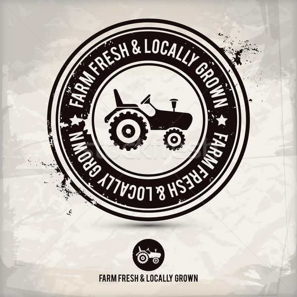 alternative farm fresh & locally grown stamp Stock photo © szsz