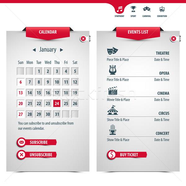 календаря иконки популярный событиях eps10 высокий Сток-фото © szsz