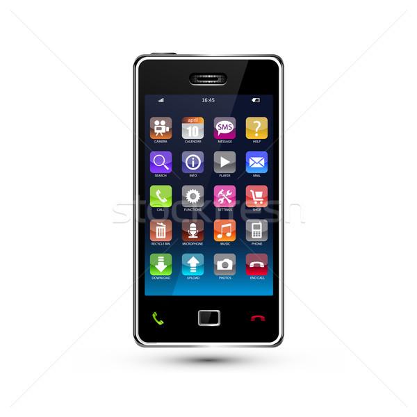 смартфон красочный применение иконки музыку Сток-фото © szsz
