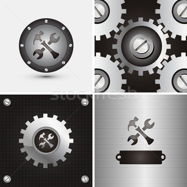 Symbool mechanisch bedrijf licht fabriek hamer Stockfoto © szsz