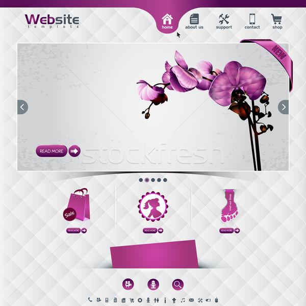 Website sjabloon web winkel Stockfoto © szsz