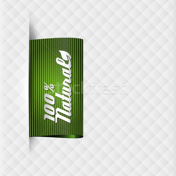 Textil címke természetes termékek magas részletes Stock fotó © szsz