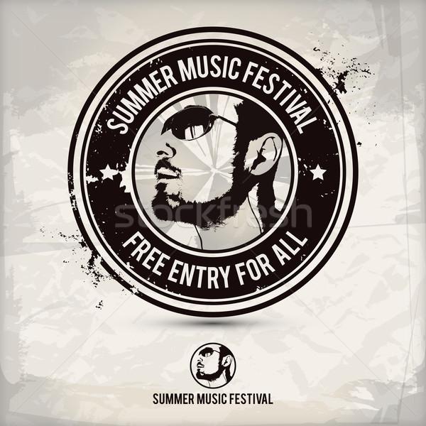 summer music festival stamp Stock photo © szsz