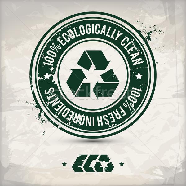 Alternatief eco label groene bio stempel Stockfoto © szsz