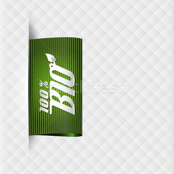 Textiel bio label hoog gedetailleerd vintage Stockfoto © szsz