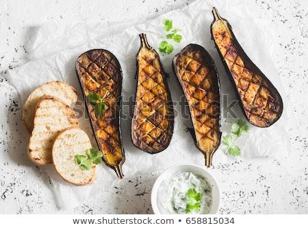 茄子 ルーマニア語 皿 ディップ 木製 ストックフォト © Freelancer
