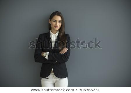 портрет · красивой · исполнительного · рабочих · компьютер · служба - Сток-фото © iko
