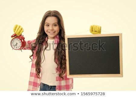 school · tijd · Blackboard · 3D · geïsoleerd · schildersezel - stockfoto © marinini