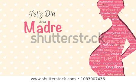 Kollázs gyönyörű spanyol fiatal nő divat smink Stock fotó © lubavnel