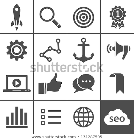 Stock photo: Magnifying Glass - Cloud Services