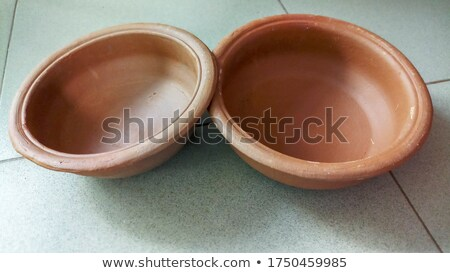粘土 ポット 料理 孤立した 白 背景 ストックフォト © elly_l