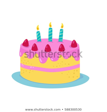 cartoon cake Stock photo © oblachko