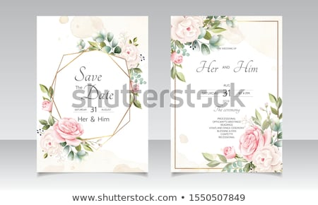 Background with Beautiful Floral Border Stock photo © damonshuck