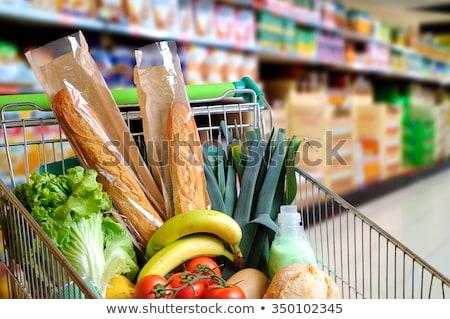 Férfi áruház bevásárlókocsi városi portré sétál Stock fotó © Paha_L