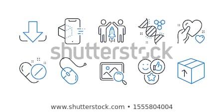 中心 DNA鑑定を ピル 色 薬 青 ストックフォト © 4designersart