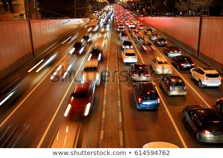 Engarrafamento longa exposição Bangkok praça Tailândia estrada Foto stock © smithore