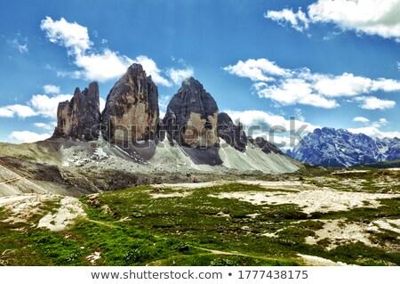 Wild landschap hdr dramatisch berg hemel Stockfoto © smithore