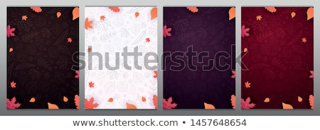 vector autumn background with a card stock photo © orson