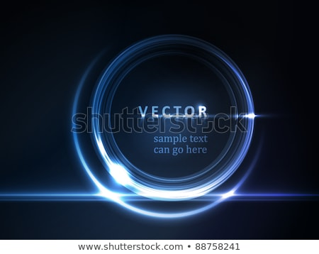 Blue glowing round frame for your text Stock photo © wenani