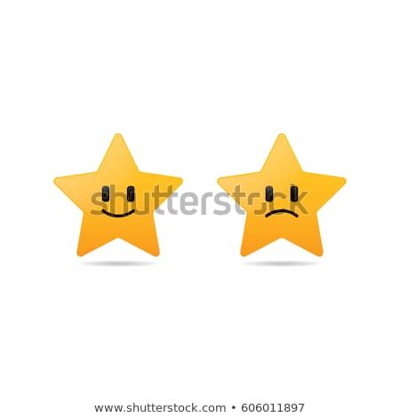 Stock photo: abstract stars with smiley set