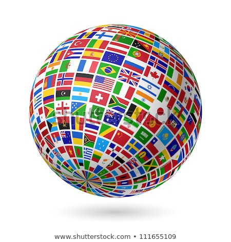 globe of flags stock photo © experimental