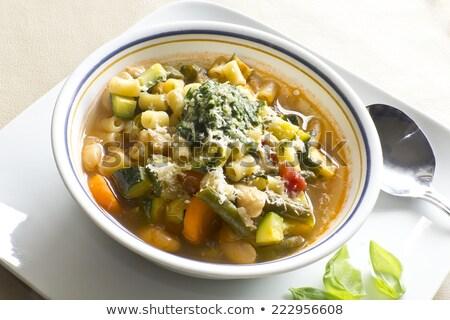 бобов томатный базилик итальянский Ингредиенты суп Сток-фото © aelice
