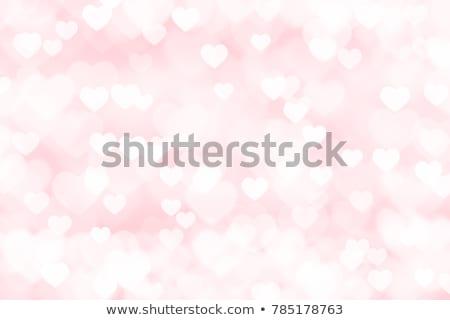 розовый сердце иллюстрированный формы сердца девушки Сток-фото © aelice